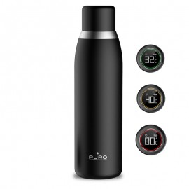 PURO SMART BOTTLE Butelka termiczna INOX z inteligentną nakrętką LED 500 ml