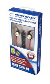 Słuchawki  douszne Bluetooth metalowe Esperanza