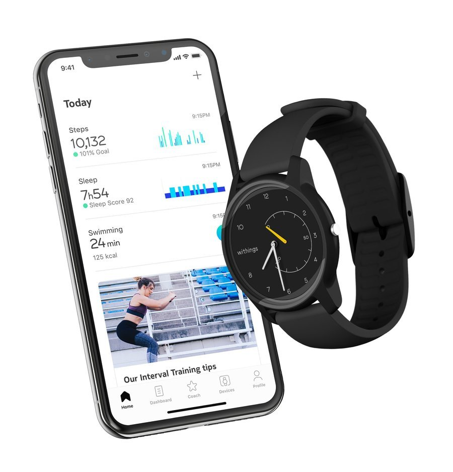 withings move z telefonem